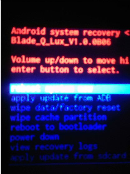 recovery zte blade qlux
