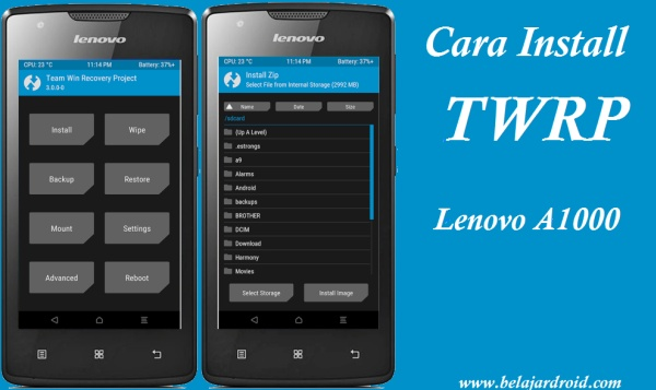 cara root dan isntall twrp lenovo a1000