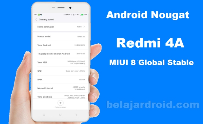 redmi 4a android nougat