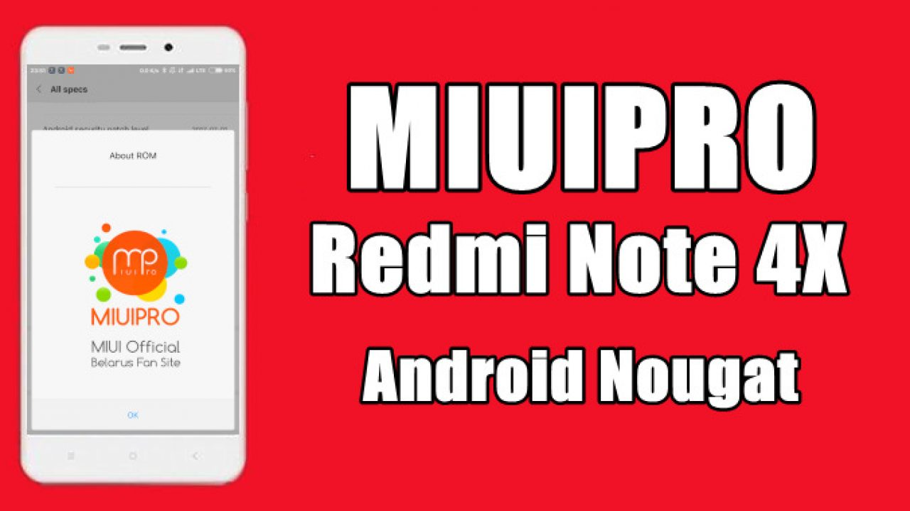 Cara Install MIUIPRO Android 7 0 Nougat Di Redmi Note 4X (mido