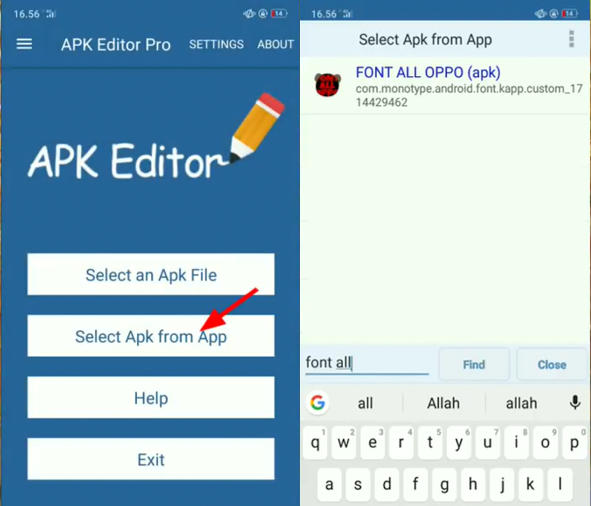 Font All OPPO A3s