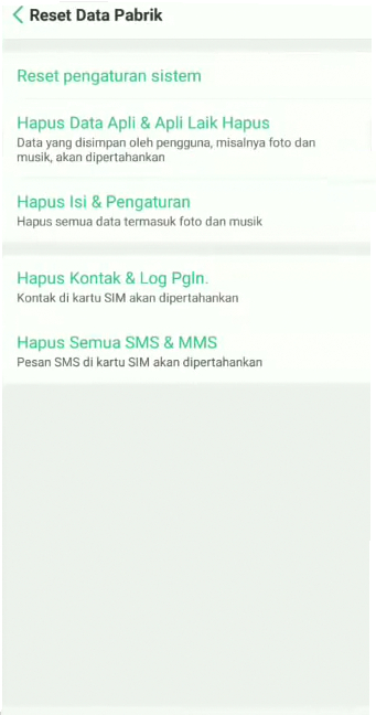 reset oppo a3s