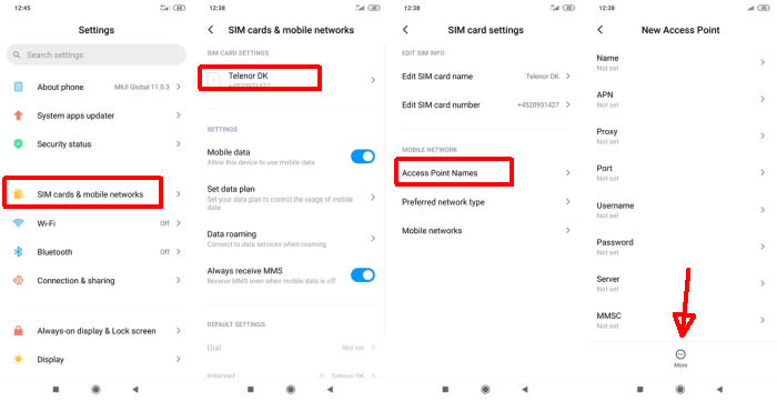 Cara Setting APN Redmi Note 7